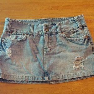 American Eagle Jean Denim Mini Skirt 6